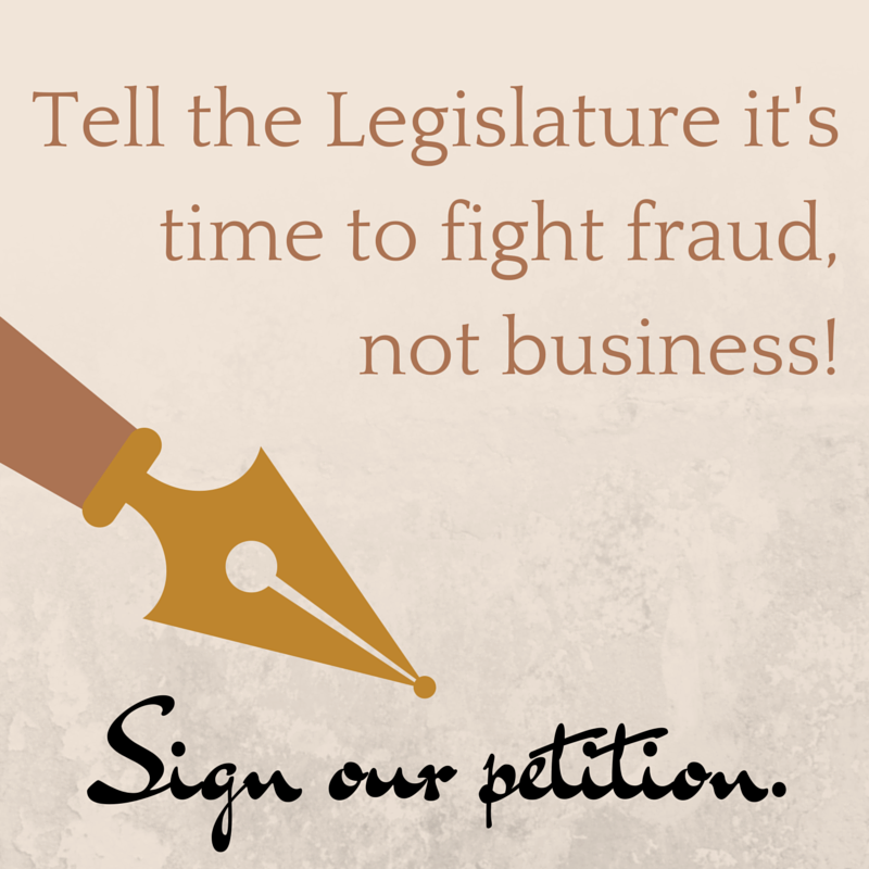 Sign our petition to the Legislature.