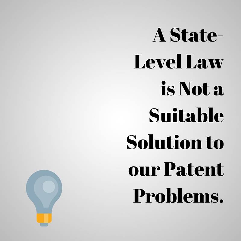 A state-level law is not a suitable solution