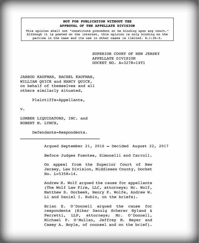 Kaufman v. Lumber Liquidators