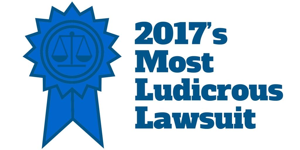 2017's Most Ludicrous Lawsuit